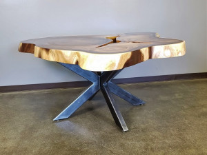 Monkey Pod Live Edge Table