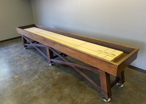 Oak Shuffleboard Table