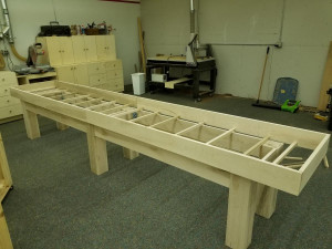 Custom Shuffleboard Base Construction