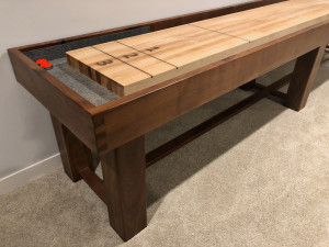 Walnut Shuffleboard Table