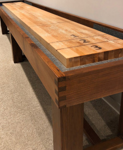 Walnut Dovetailed Shuffleboard Table