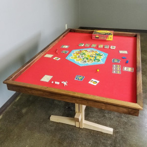 Walnut and Speed Cloth Game Table