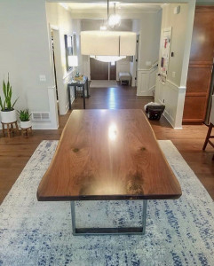 Live Edge Walnut Table