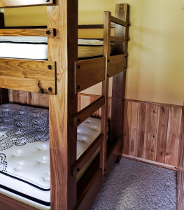 Walnut Queen Bunk Beds